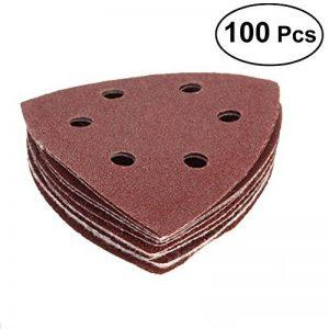 UEETEK 100PCS Triangle Disques à poncer Papier abrasif 6 Trou Grit 40/60/80/120/240 de la marque UEETEK image 0 produit