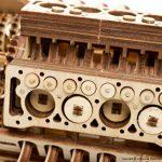 Ugears U-9 Grand Prix Modèle de Voiture en Bois (Puzzle 3D à Monter Soi-Même) Véhicule à Manivelle avec Pistons, Roues et Amortisseurs | Fonctionnel, Design de Voiture de Course Authentique de la marque Ugears image 2 produit