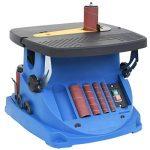vidaXL Ponceuse à Bande et à Axe Oscillant 450 W Bleu Outil de Ponçage Bois de la marque vidaXL image 1 produit