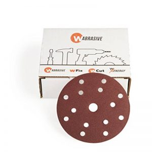 WAbrasive Disque Abrasif 150 mm & Disque Ponceuse 150 | Disque Abrasif 150mm Auto Agrippant Grain 100 | 50 Disques Abrasif | Idéal pour Ponceuse de la marque WAbrasive image 0 produit