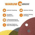 WAbrasive Lot de 50 disques abrasifs 150 mm Ø 50 pièces • Papier abrasif velcro avec grain 220 K220 Velcro • Papier abrasif pour ponceuse excentrique de la marque WAbrasive image 3 produit