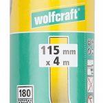 Wolfcraft 1742000 Rouleau abrasif auto-agrippant Grain 180 4 x 115 mm de la marque Wolfcraft image 1 produit
