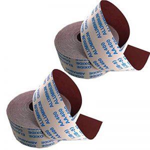 Xinlie Rouleaux de papier abrasif 600 Grains Papier de Verre Papier sablé Papier à Poncer à l'eau Sec/Humide pour Ponçage Automobile Meubles en Bois Travail du Bois 95 mm × 1 m(2 Volumes) de la marque Xinlie image 0 produit
