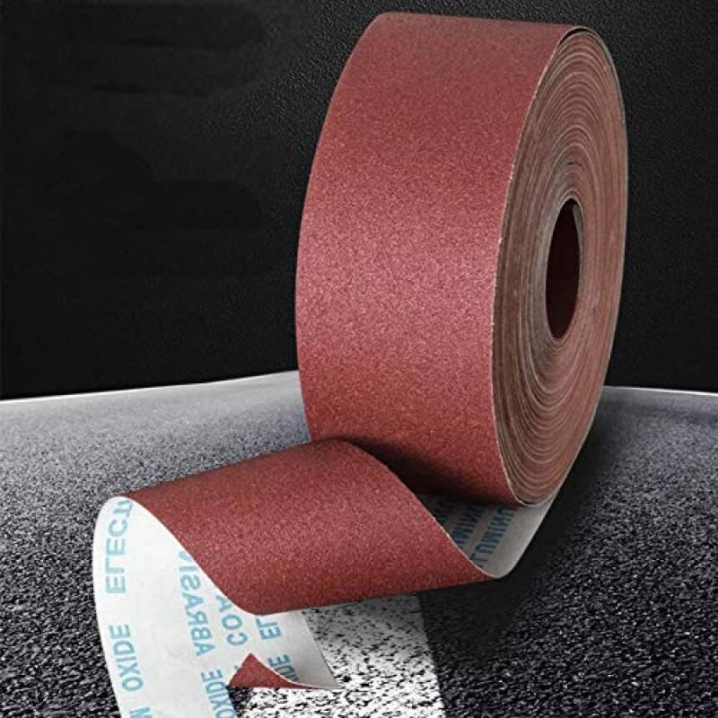 Rouleau de papier /émeri en oxyde d/'aluminium grain fin 150 5 m x 25 mm
