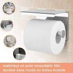 YISSVIC Porte Papier Toilette 304 Acier Inoxydable Support Papier Rouleau Installation avec Vis ou 3M Adhésif Haute Brillance de la marque YISSVIC image 1 produit