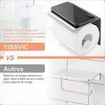 YISSVIC Porte Papier Toilette 304 Acier Inoxydable Support Papier Rouleau Installation avec Vis ou 3M Adhésif Haute Brillance de la marque YISSVIC image 3 produit